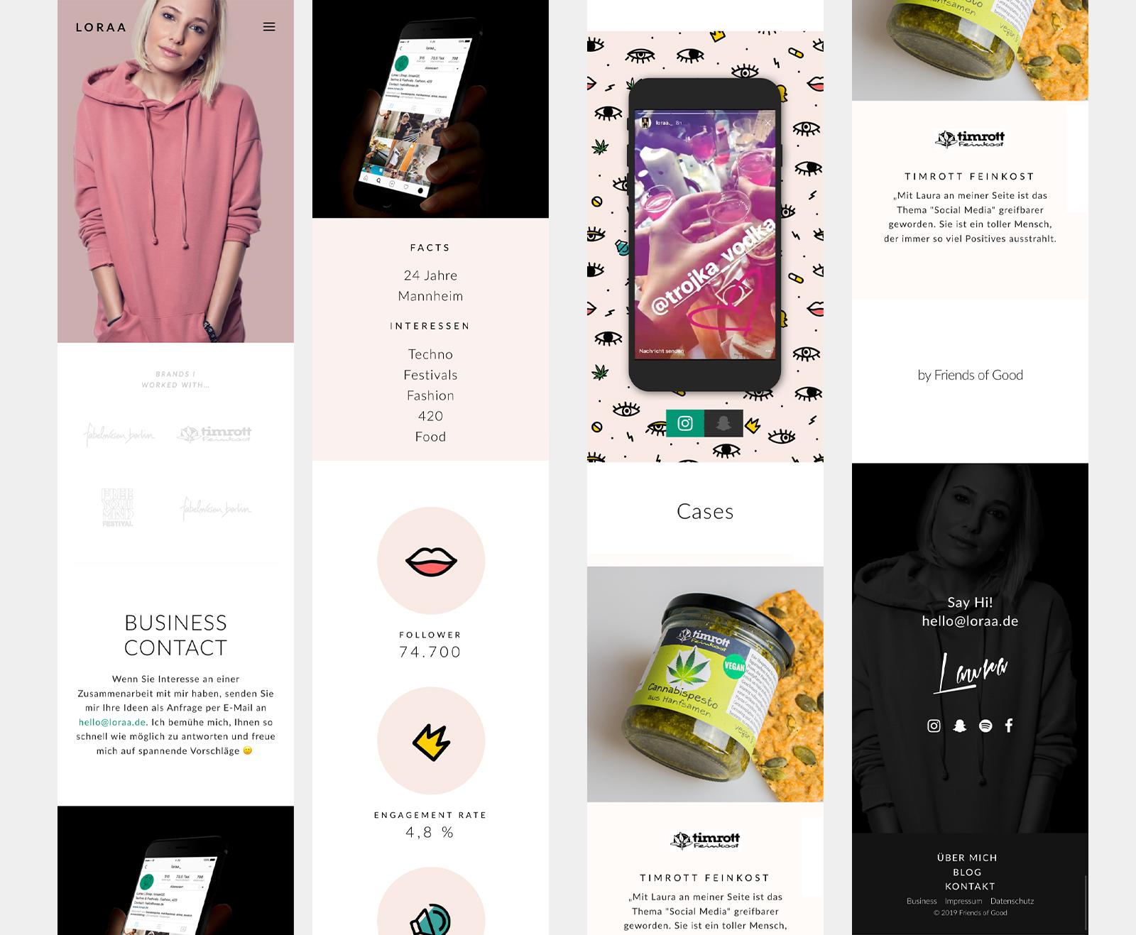 influencer_webdesign-mobile-screens