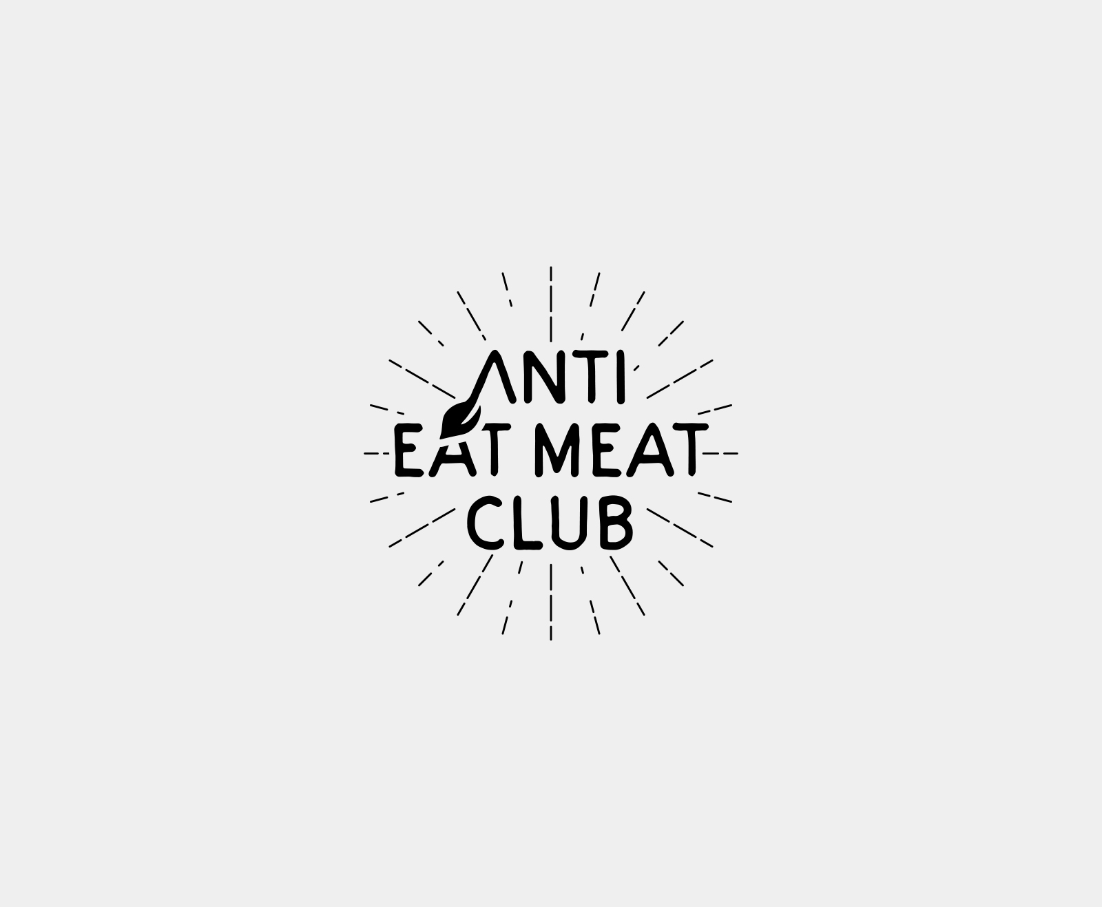 anti-eat-meat-club_logo_design
