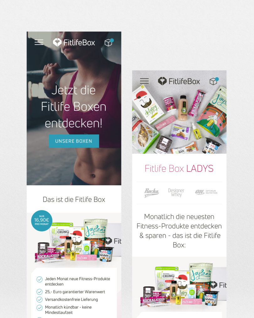 Fitlife Box Responsive Webdesign